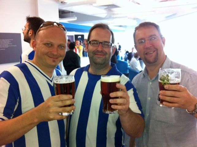 Ady, Al & Phil - The Amex opens, 30th July 2011.  Cheers.